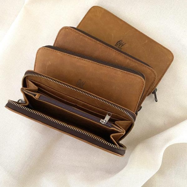Ladies Leather Zip Wallet